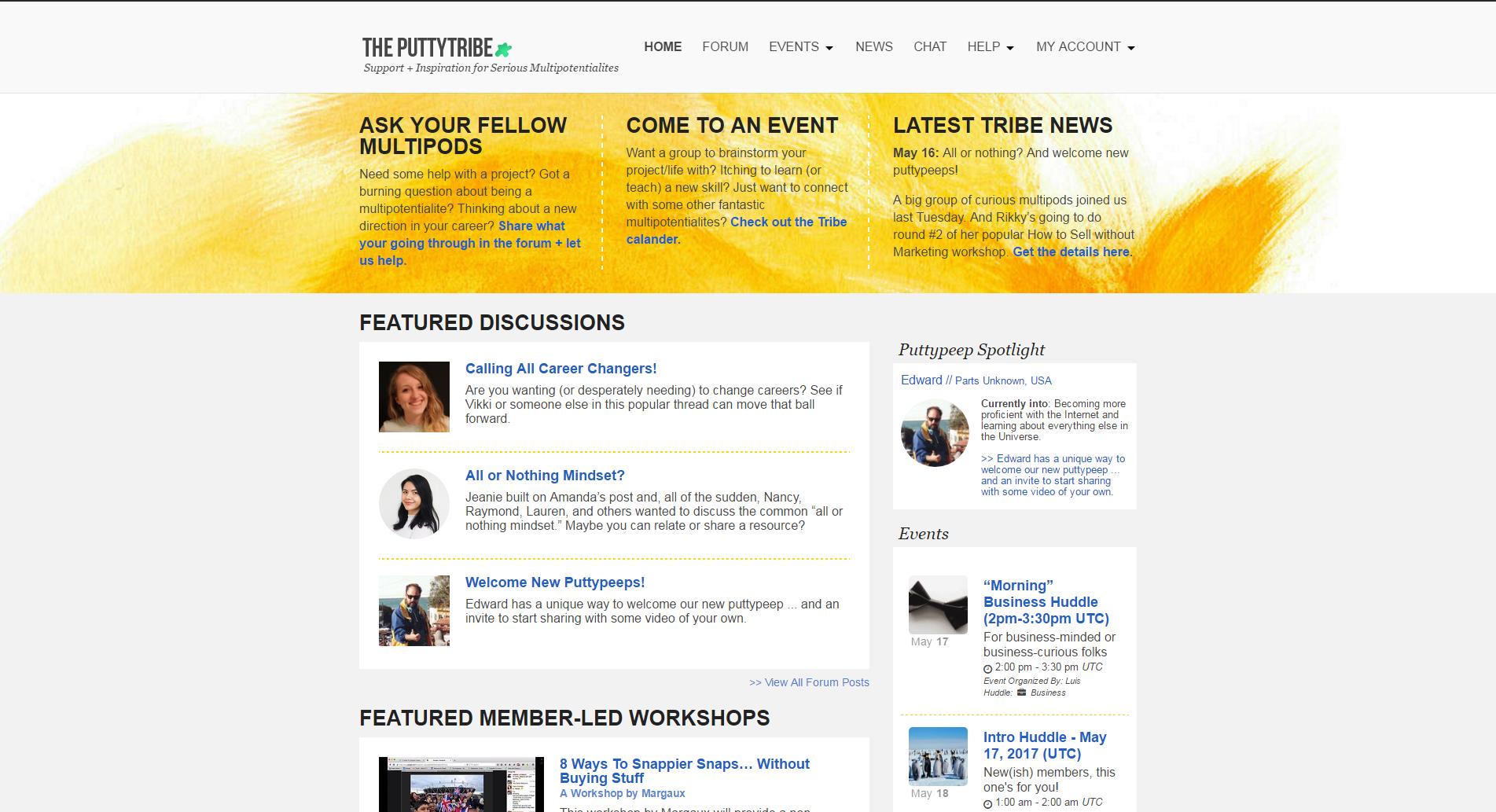 Homepage (Desktop View)