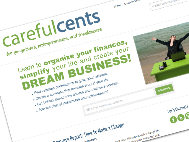 Careful Cents Banner and Subscription Lead In