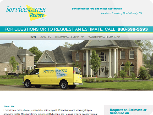 ServiceMaster Website Design